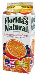FLORIDA'S NATURAL SQUEEZED STYLE ORANGE JUICE (WITH PULP)